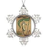 Monsety Suffragette Zeitschrift Deko-Schneeflocke für Weihnachtsbaum