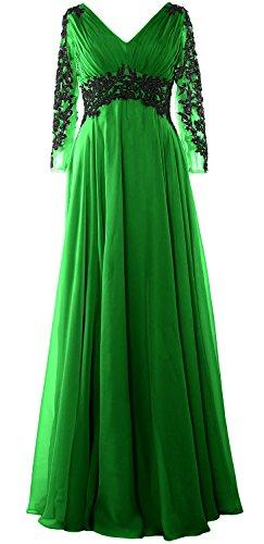 MACloth - Robe - Trapèze - Manches Longues - Femme green