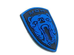 Medal Of Honor MOH Grizzly Bleu PVC Airsoft Velcro PVC Patch