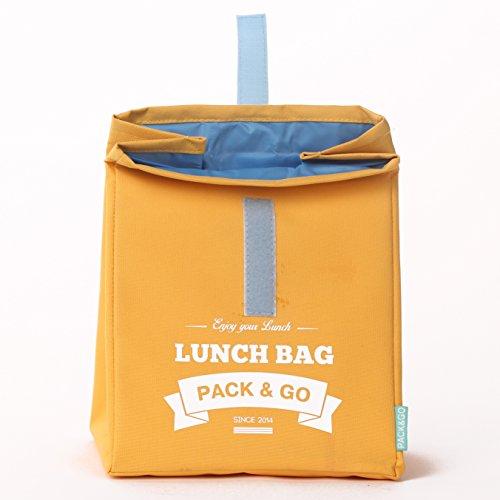 Pranzo borsa unisex Lunch Box L. sacchetto di picnic lavabile. Sandwich e borsa a scuola per merenda o al lavoro. Scatola a aliments. Sacchetti a Lunch rosso (Violet) Yellow