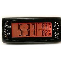 Viviance Coche LCD Digital Reloj Termómetro Higrómetro Auto Temperatura