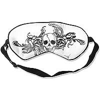Schlafaugenmasken mit dunklem Totenkopf-Druck, Seide, verstellbarer Gurt preisvergleich bei billige-tabletten.eu