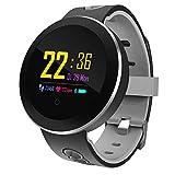 Klicop Q8 Pro Smart Watch OLED Color Screen Smart Electronics Smartwatch Fashion Fitness Tracker Heart Rate Bluetooth Men Women Smart Watch (Color : Black)