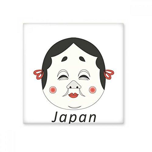 Tradicional japonés para mujer máscara de cerámica crema decoración de azulejos baño cocina azulejos de pared azulejos de cerámica