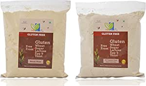 NaturPro Gluten Free All Purpose Flour 2kg and Besan 0.8 kg Combo,
