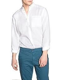 d309e5979aa8 La Redoute Collections Uomo Camicia Regular in Lino Collo alla Coreana,  Clement