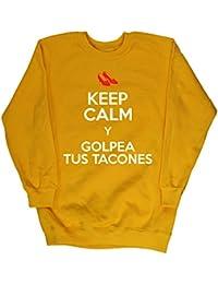 HippoWarehouse KEEP CALM Y GOLPEA TUS TACONES jersey sudadera suéter derportiva unisex niños niñas
