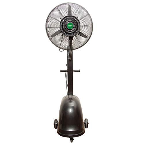 Ventilatoren Oszillierender Nebel-Spray-Ventilator mit Flaschenzug- / Wasser-Behälter-kühler Boden-Befeuchter Industrieller vertikaler schwarzer schwarzer Atomisierungs-Stand-elektrischer Ventilator d (Boden-wasser-kühler)