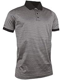 Glenmuir Herren Rib Cuff schmal Stripe mercerisierte Baumwolle Golf Polo Shirt