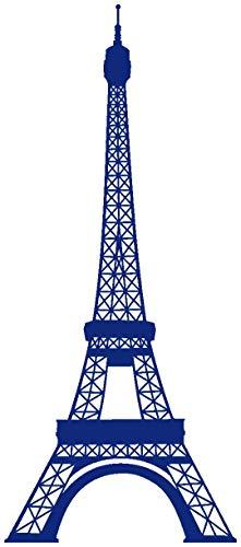 Samunshi® Wandtattoo Eiffelturm Paris Wandaufkleber in 13 Größen und 25 Farben (43x100cm königsblau) (Paris-fenster-aufkleber)