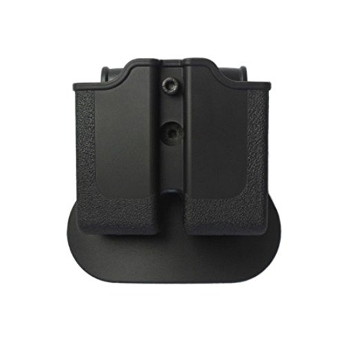 IMI Defense Double Mag Roto Magazine Pouch For 1911 Single Stack Variants, Sig Sauer 220, S&W 4506, 4516 Pistols -