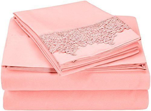 super-soft-light-weight-100-brushed-microfiber-full-wrinkle-resistant-pink-4-piece-sheet-set-with-re