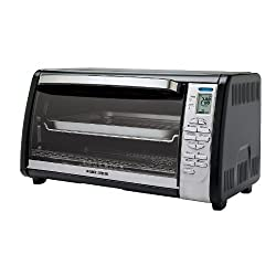 Black & Decker TO1635B Countertop Digital Convection Oven, Black/Silver