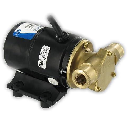 Jabsco 12210–0003Marine Series General Purpose Utility Pump (Nitrile Impeller, 3.4-GPM, 115-Volt, 3/8