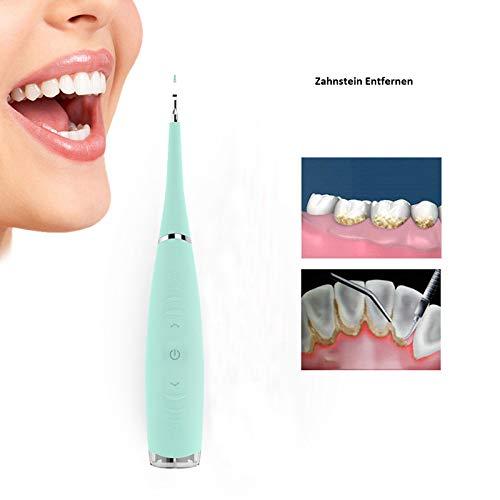 Zahnsteinentferner, COSTOM Zahn Reiniger elektrische,Tragbar hochfrequente Vibrationen elektrische Zahnstein Fleckenentferner 5 einstellbaren Modi Ideal für Klammer Haushalt, Reisen und Outdoor (Blau) -