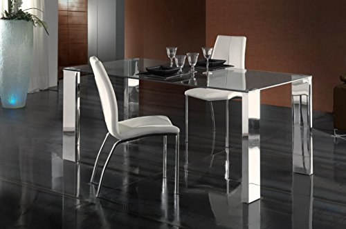 Schuller-Moderner Esstische Malibu Stahl 180-iBERGADA - Malibu Glas Tisch