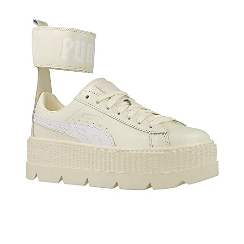 Puma Women's Fenty X Ankle Strap Sneaker Vanilla Ice/White Ankle-High Leather Fashion - 7.5M Ankle Strap Sneakers