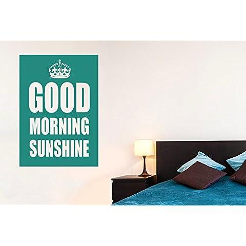 Good Morning Sunshine Vinilo Pegatinas De Pared Decorativo - Gran (Alto 80cm x Ancho 57cm) Oro Brillante