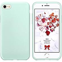 Cover iPhone 8, Cover iPhone 7, Humixx Flessibile Gel Silicone Rubber Cover Con Morbido Cuscino In Microfibra,Antigraffio Anti Skid Soft Touch Protettiva Case Cassa /Silk Series/