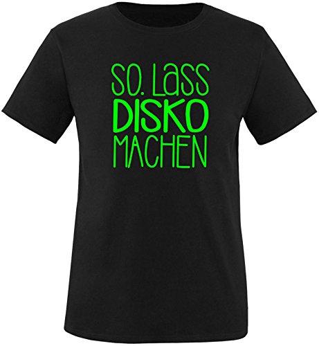 EZYshirt® SO.Lass Disko machen Herren Rundhals T-Shirt Schwarz/Neongruen