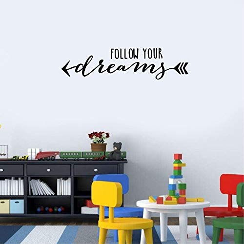 Folgen Sie Ihrem Traum Farbe Wandaufkleber Arbeitszimmer Abnehmbare Tapete DIY Kunst Aufkleber Kinderzimmer Wohnkultur Vinyl Selbstklebende 42x15 cm