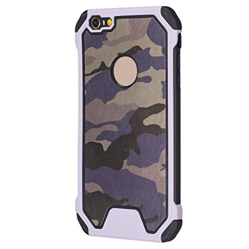 Forepin® Double-Couche Armure Hybrid Housse Coque pour Apple iPhone SE / 5 / 5G / 5S Cornerguard ShockProof 2 in 1 Plastique Silicone Rugged Armor Frame Bumper Case Cover en Camouflage en Camouflage Couleur 1