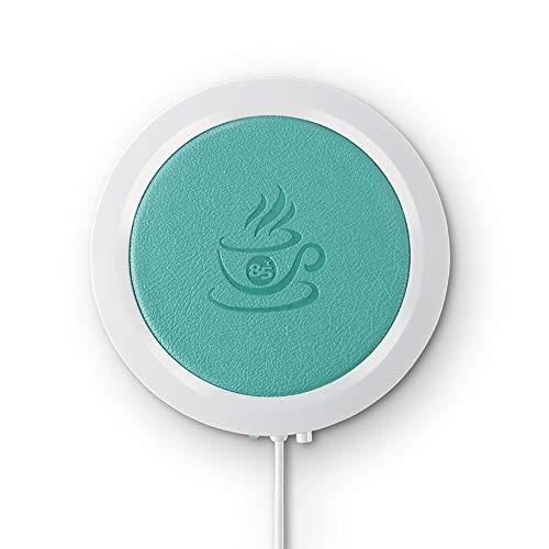 ONEVER PU Kaffee Warmer Platte mit automatischer Abschaltung Temperatur bis zu 185 ℉ / 85 ℃ für Büro & Büro Kaffee Zubehör (Blau) ()