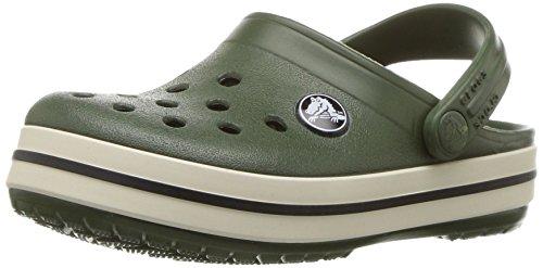 Crocs Crocband Clog K For/Stu, Sabots Mixte Enfant Vert (Forest/Stucco)