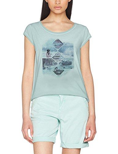 s.Oliver Damen T-Shirt 5706325223, Grün (Milky Mint Placed Print 60D4), 34