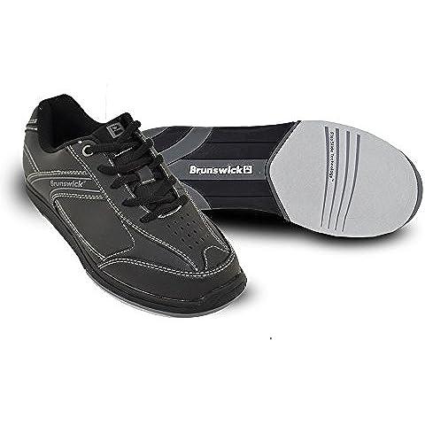 Brunswick Flyer - Scarpe da bowling, da uomo, nero (nero), US 13, UK 11.5