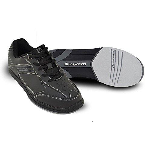 Brunswick Flyer Chaussures de bowling pour homme noir Noir US 7, UK 5.5 noir - Noir