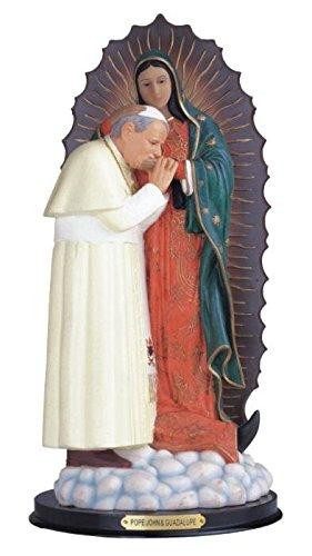 "StealStreet ss-g-312.57Papa Juan Pablo II con Guadalupe Santa Figura Religiosa decoración, 12"""