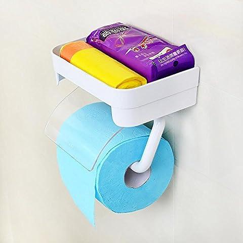 sbwylt-modern compacto baño toallero ventosa Tejido cajas Nail Drill lugar para papel higiénico