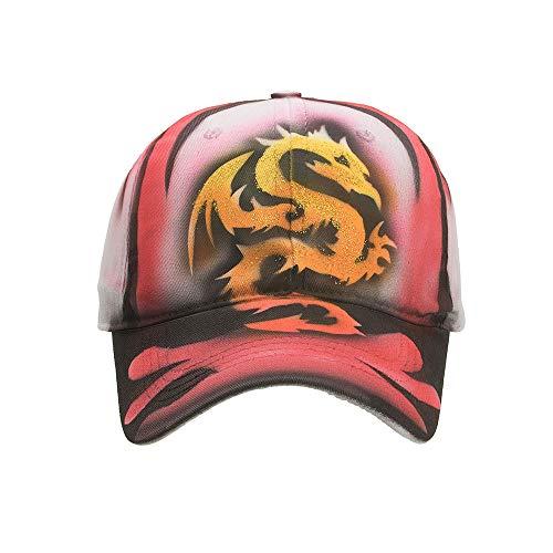 1a5d4c0e9d0 ACVIP Mens Women Cotton Baseball Cap Hand-Painted Animal Peaked Hat (Dragon)