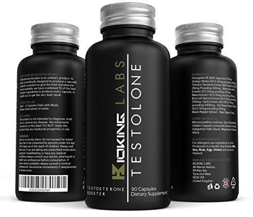 Testosteron Booster Formular - 1 Natürliche Testo Boosting Ergänzung Von Bioking Labs   Superstärke Testosterone Ergänzung, Tribulus, Maca, Feenagreek & Ginkgo Boloba