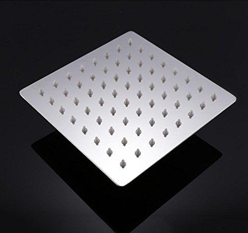 "Preisvergleich Produktbild BLYC- 6 ""Square 304 Edelstahl Ultra-Dünn Regen Dusche bleifrei Luxus Durable Regen Duschkopf, Chrom"