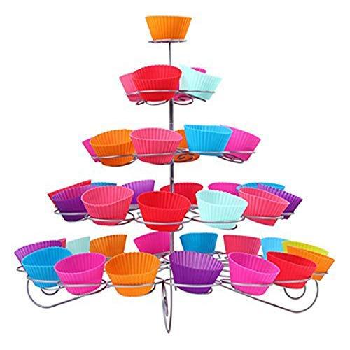 Genuino 5 niveles Espiral Metal Soporte Cupcakes - 41 Mini Pastel Expositor - Para Fiestas y OCASIONES POR Trimming SHOP