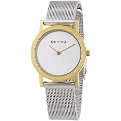 Bering Time Women's 13427-010 Quartz Watch with Silver Dial Analogue Display and Silver Stainless Steel Bracelet