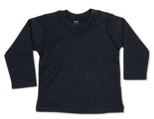 Schwarz 19 (Baby Sweatshirt Longsleeve Pullover Pulli uni Kleinkind (18-24 Monate, schwarz))