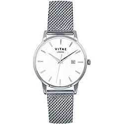 Silver Walmer 40mm Watch by Vitae London