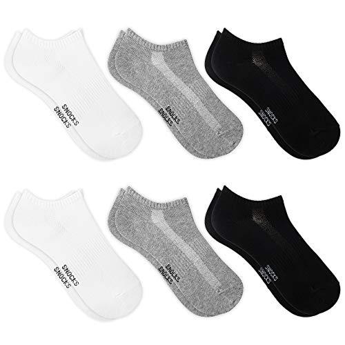 Snocks Sneaker Socken Damen (Schwarz, 39-42) Füßlinge Damen Sneaker Socken Damen 39-42 Sneaker Socken Unsichtbare Sneaker Socken Schwarz Füßlinge
