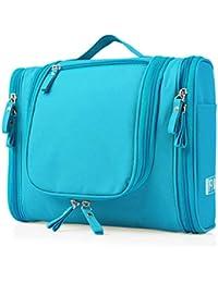 Heavy Duty Waterproof Hanging Side Open Toiletry Bag - Travel Cosmetic Makeup Bag For Women & Shaving Kit Organizer...