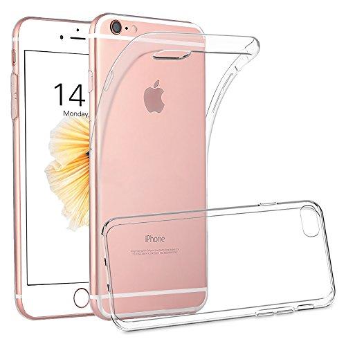 iPhone 6S 6 Hülle, FayTun iPhone 6 6S Schutzhülle Case Silikon- Crystal Clear Ultra Dünn Durchsichtige Backcover Handyhülle TPU Case für iPhone 6/6S (Transparent)