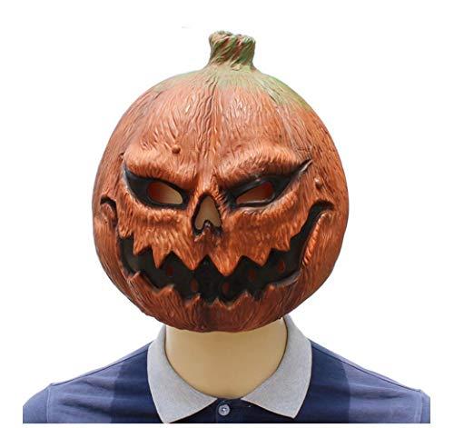 Wsjfc Latex-Maske für Halloween, lustige Horror-Maske, Kürbis-Maske, Streichmaske Gesicht beängstigend Halloween-Kostüm-Party, geeignet für Männer und - Beängstigend Kostüm Für Hunde