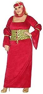 Atosa-38813 Disfraz Dama Medieval, Color Rojo, XL (38813)