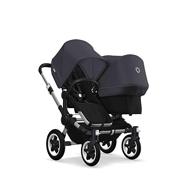 Bugaboo Donkey 2 Duo, 2 in 1 Pram and Double Pushchair for Baby and Toddler, Steel Blue Bugaboo Perfect for two children of different ages Use as a double pushchair or convert it back into a single (mono) in a few simple clicks You only need one hand to push, steer and turn 1