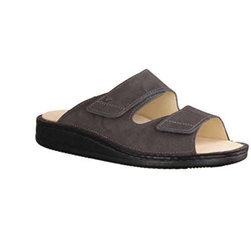 Finn Comfort Riad- Herrenschuhe Sandale / Pantolette, Grau, leder (impala) Grau