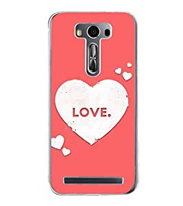 Love Hearts 2D Hard Polycarbonate Designer Back Case Cover for Asus Zenfone 2 Laser ZE500KL (5 INCHES)