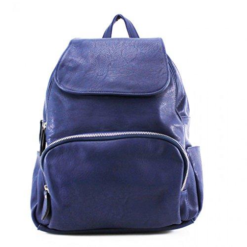 LeahWard® Damen Mädchen Rucksack Rucksack Schule Taschen Damen Qualtiy Mode Kunstleder Handtasche CWS00186 CWS00186A CWJM841 Marine 30X16X38CM