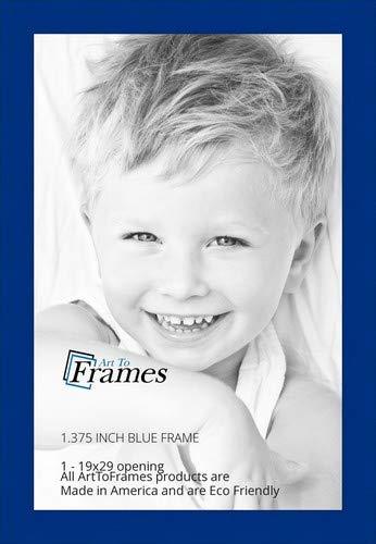 arttoframes 19x 29/19x 29Bilderrahmen Blau Fleck auf Buche. 3,5cm breit (2wom81792)